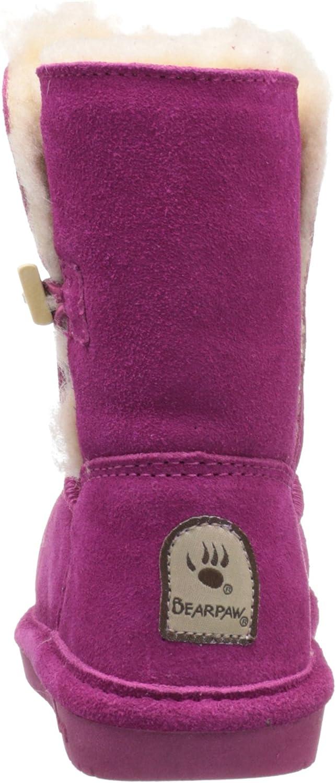 ,Pom Berry,5 M US Toddler BEARPAW Abigail Shearling Boot Toddler//Big Kid