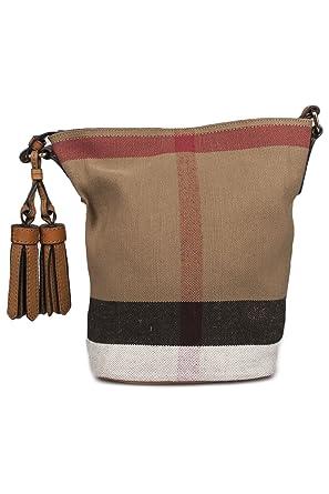 30bac913cb7 Burberry Femme 3982937 Marron Tissu Sac Porté Épaule  Amazon.fr  Vêtements  et accessoires