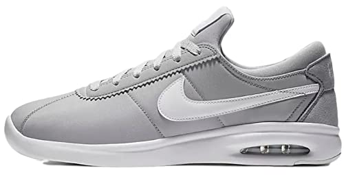 50% off available reliable quality Nike SB Air Max Bruin Vapor Leather Men's Skateboarding Shoe (9 B(M) US,  Wolf Grey/White/White)