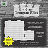 "Dry Erase Dungeon Tiles, Combo Set of five 10"" and sixteen 5"" interlocking squares for role-playing and miniature tabletop games"