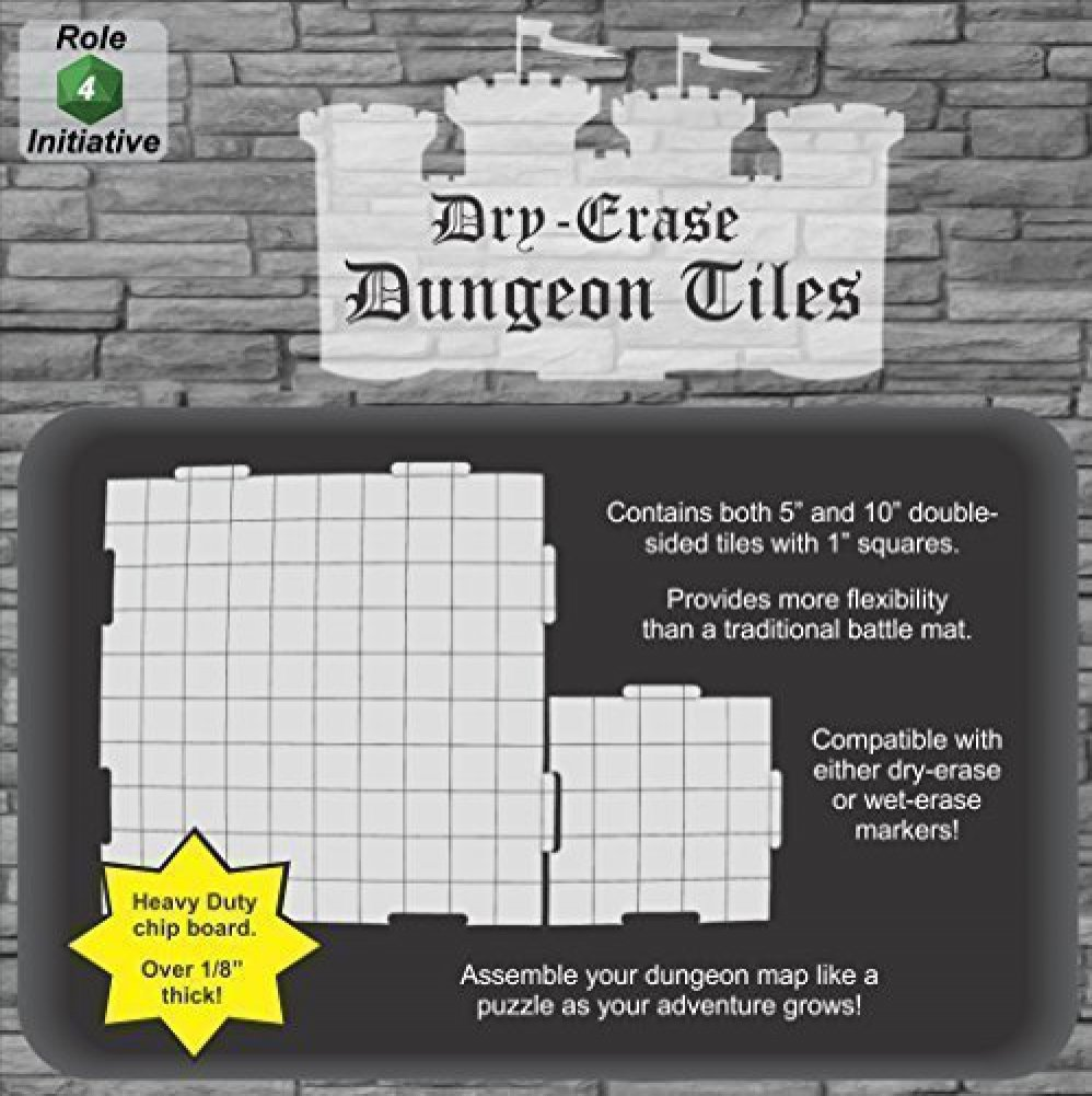 Dry Erase 5 inch and 10 inch Dungeon Tiles - Combo by Role 4 Initiative
