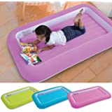 Parkland® Kid's Children's Inflatable Safety Flocked Kiddy Airbed Toddlers Camping Air Beds Soft Comfortable Fun Colourful Guest Sleepover