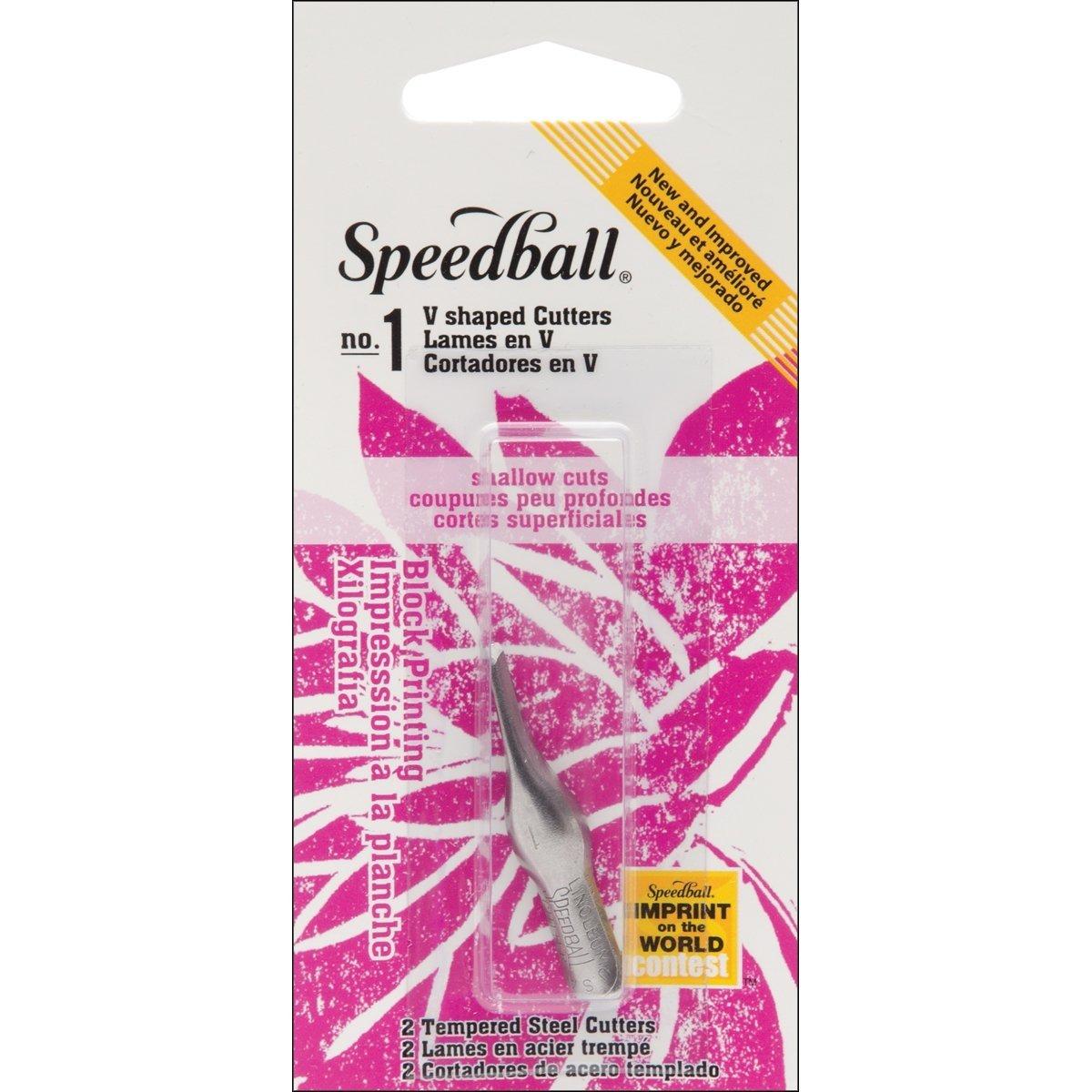 Speedball Lino Cutter Blades 2/Pkg-No. 1 Small V