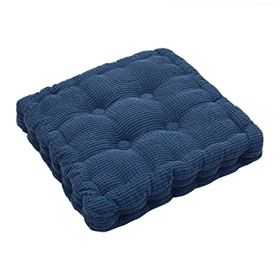 """Square EPE Filled Chair Pad Cushion Natural for Home Office Dinning Chair Solid Color Indoor Outdoor Seat Chair Pad (15.6""""×15.6""""): Kitchen & Dining"""
