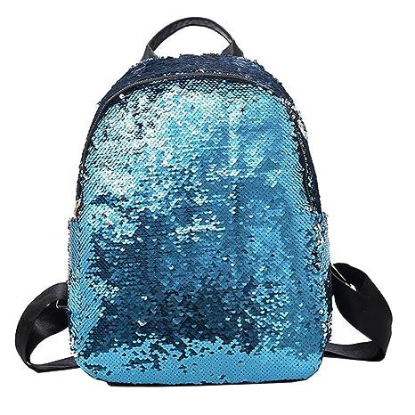 Outsta Mochila escolar de lentejuelas, mochila para niñas, mochila para estudiantes, bolso de