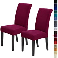 Howhic Stretch Chair Covers for Dining Room Set of 2, Removable Washable Dining Room Chair Covers, Dining Chair…