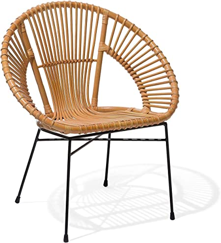 Sedia in Rattan Beige Sarita: Beliani: Amazon.it: Casa e cucina