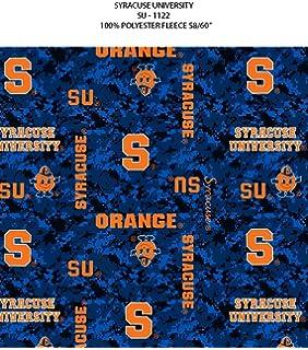 NCAA Syracuse University Orange Orangemen Block Fleece Fabric by the Yard