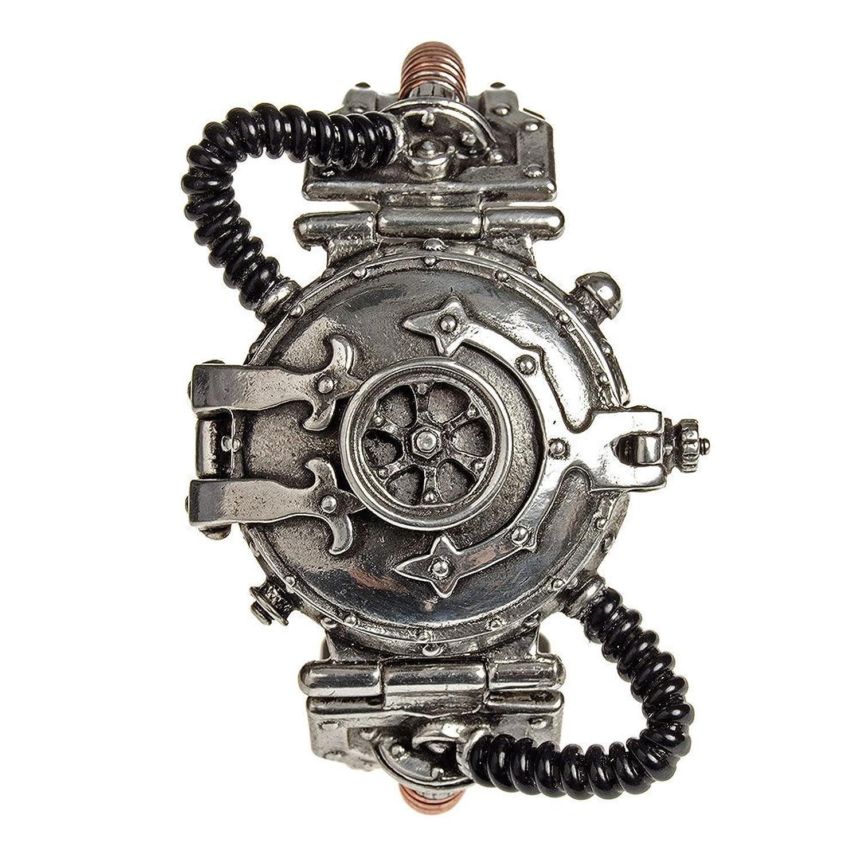 Armbanduhr Alchemy Gothic Dampfbetriebener Entropie Kalibrator aus Zinn und Messing EinheitsgrÖße Steampunk Uhr -