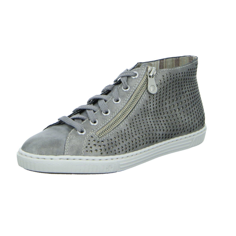 Rieker Mujeres Zapatos con cordones gris, (grey/antique) L0933-40 38 EU|grey/antique