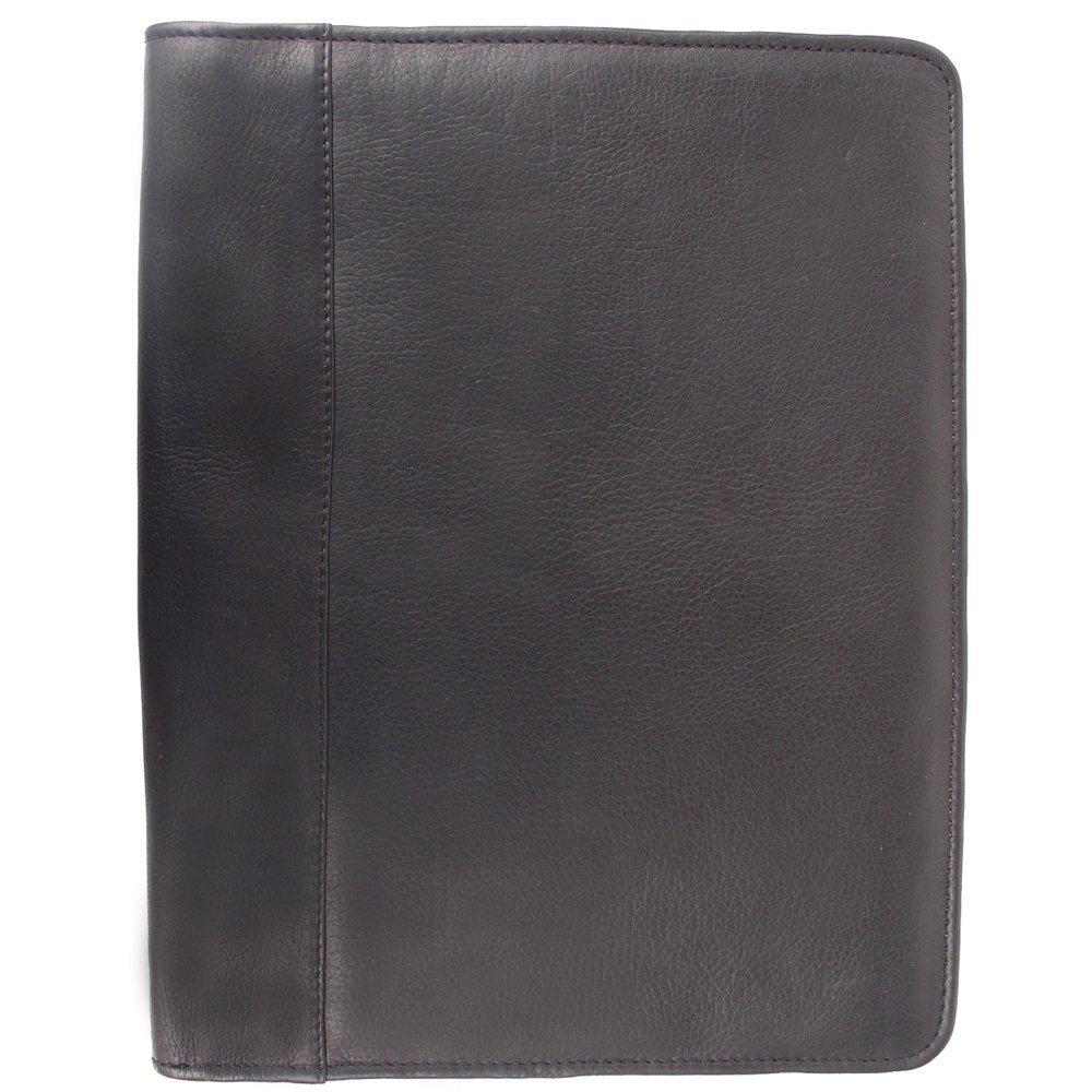 Piel Leather Zippered Padfolio, Black, One Size