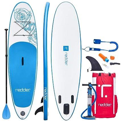 INWAVE Tablas Paddle Surf Hinchables Vortex 10 All Round Tabla Stand Up Paddle - Kit con Inflador De Mano De Doble Acción, Pala Ajustable 3 Piezas, ...