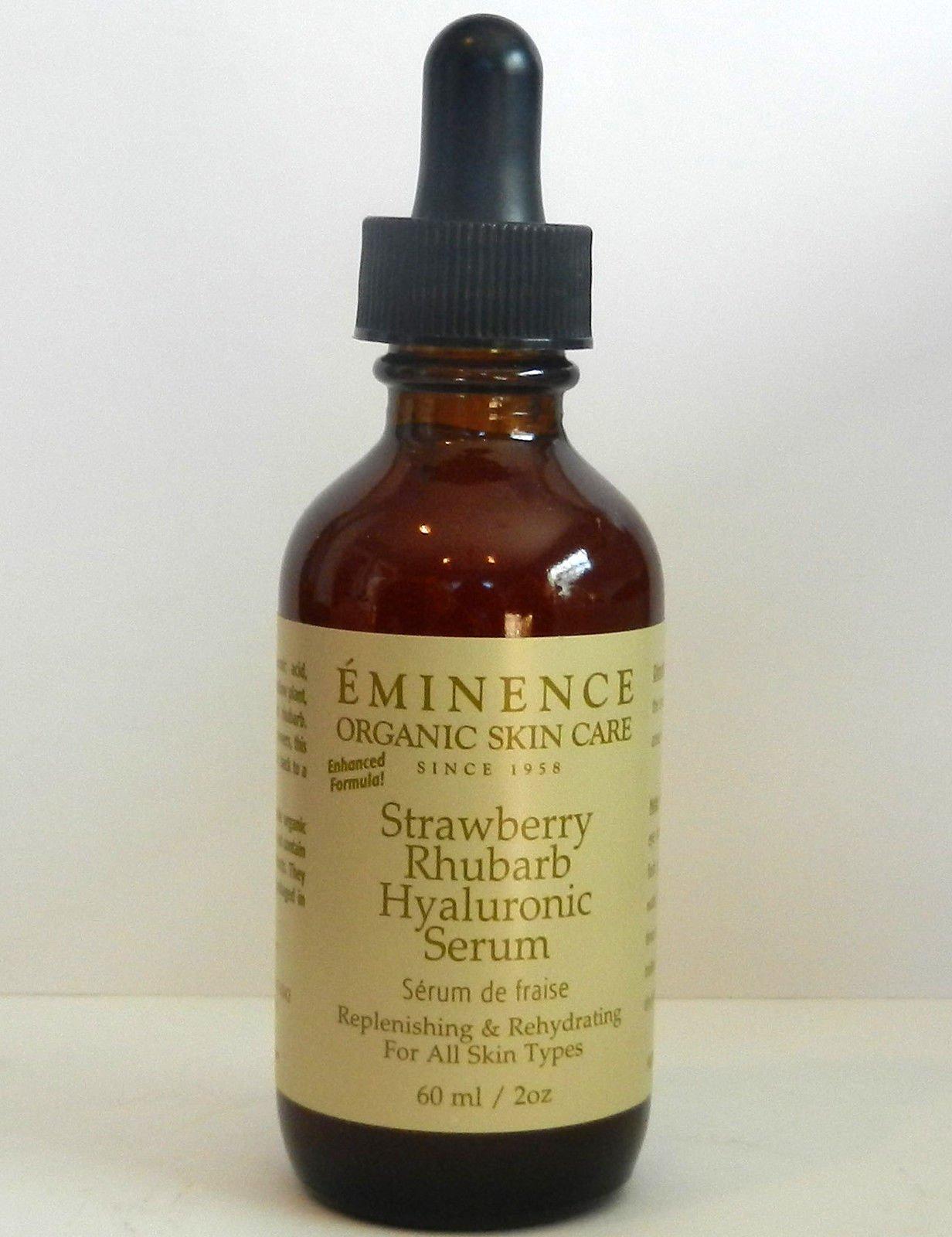 Eminence Strawberry Rhubarb Hyaluronic Serum 2 oz / 60 ml PRO Size New Fresh Product
