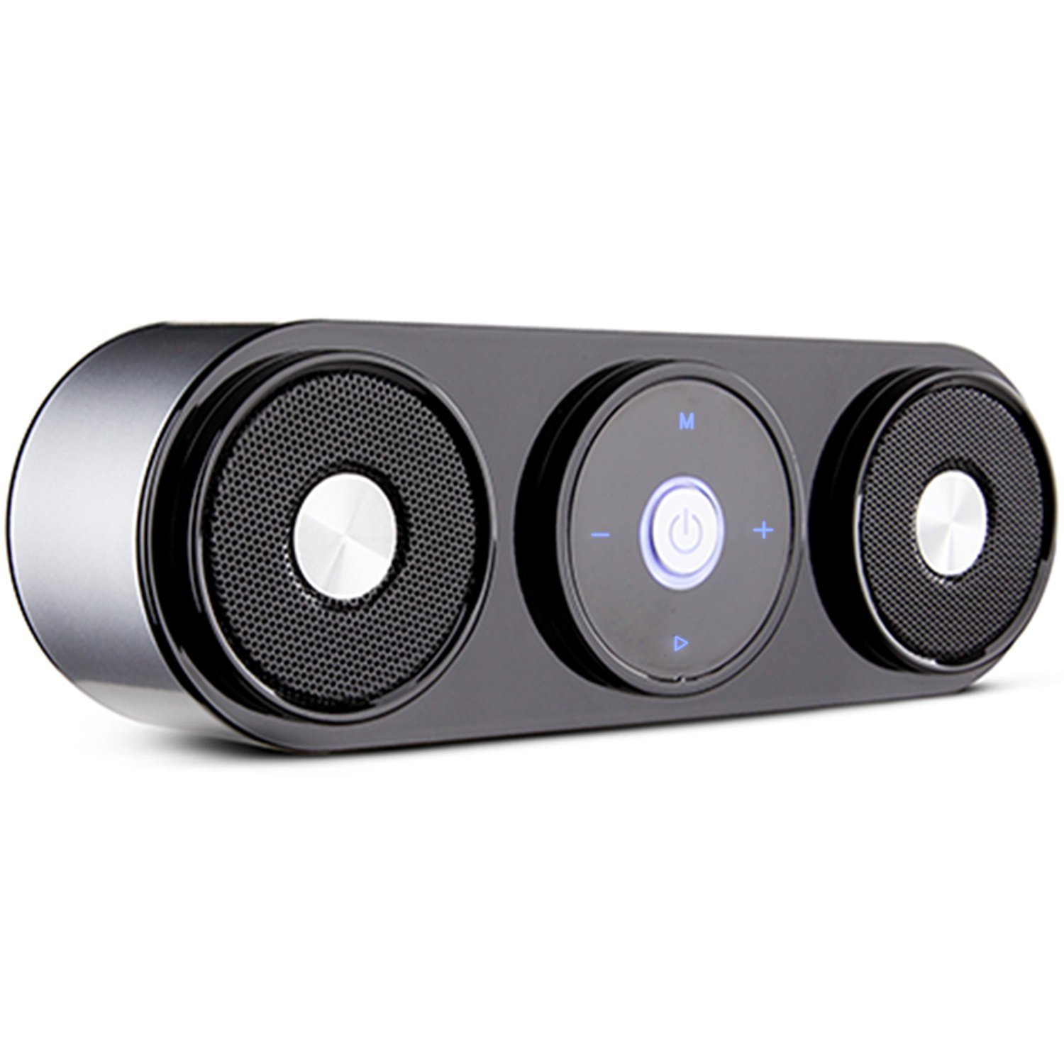 Bluetooth Speakers, ZENBRE Z3 10W Portable Wireless Speakers with 20h Playtime, Computer Speaker with Dual-Driver Enhanced Bass Resonator (Silver)