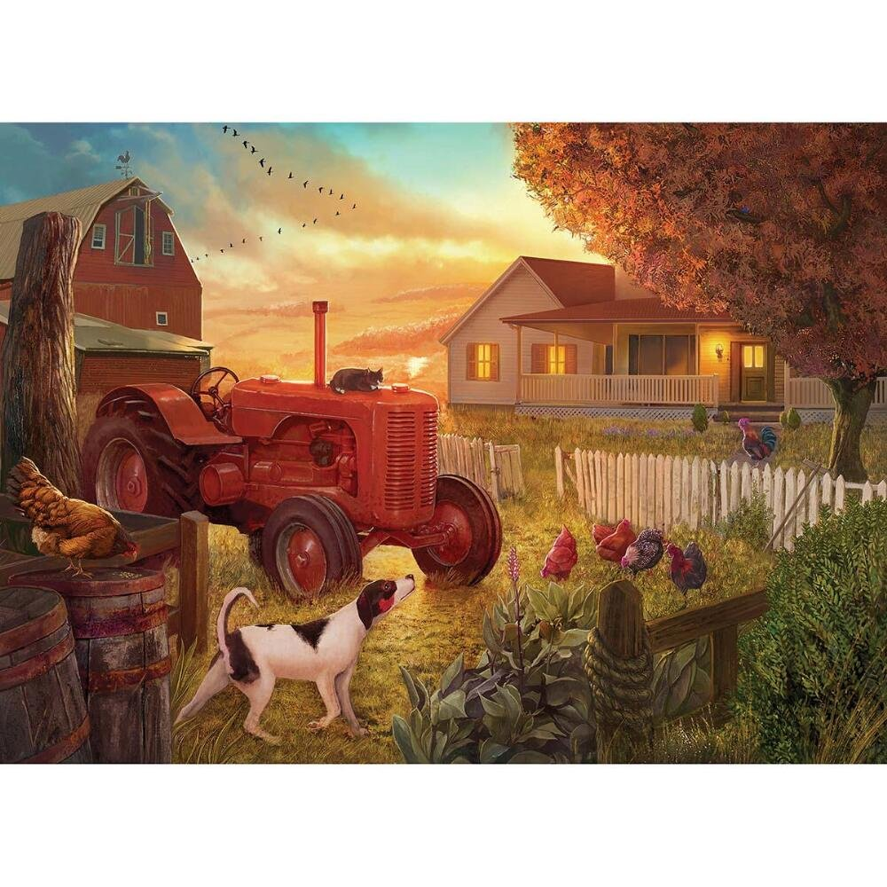 Dusk at the Farm 1000pc Collector Puzzle By: Krzysztof Krygier by Lafayette Puzzle Factory