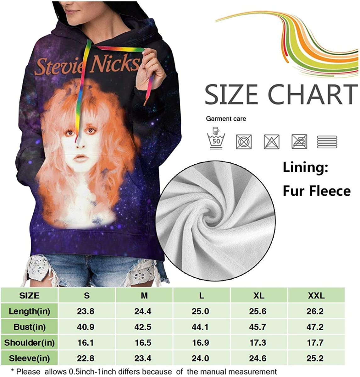 LarryCAdamson Stevie Nicks Womens Medium Thick Hoodies Sweatshirts Pullover