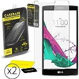 CaseBase® Pack de Deux Premium Protections d'écran en Verre Trempé pour LG G4
