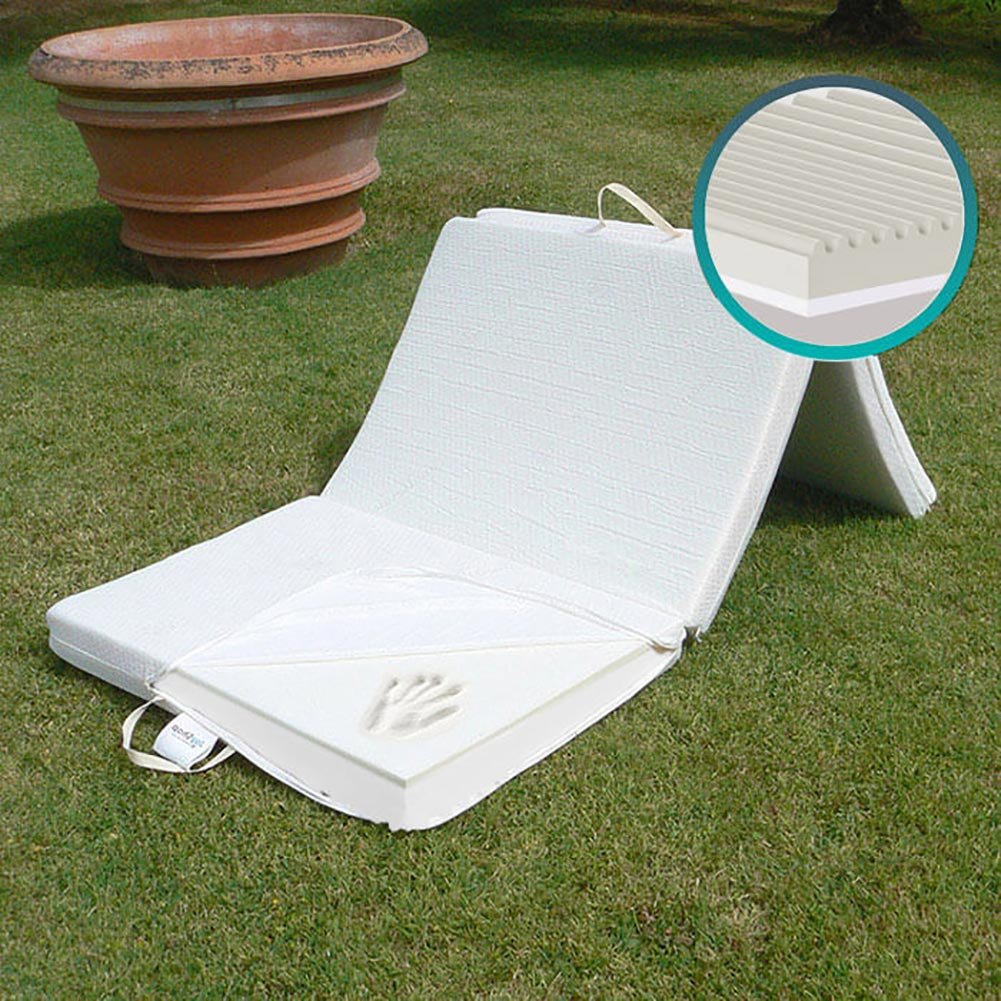 Materassino Futon Pieghevole SalvaSpazio 100% Lattice Singolo 80x200 cm anche come pouf o letto di emergenza JOYSHOP s.r.l.