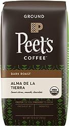 Peet's Coffee, People & Planet, Alma De La Tierra, Dark Roast, Organic Ground Coffee, 10.5 oz. Bag, USDA Organic Coffee, Lively & Bright Blend of Latin American Coffee, Medium Body & Cocoa Notes
