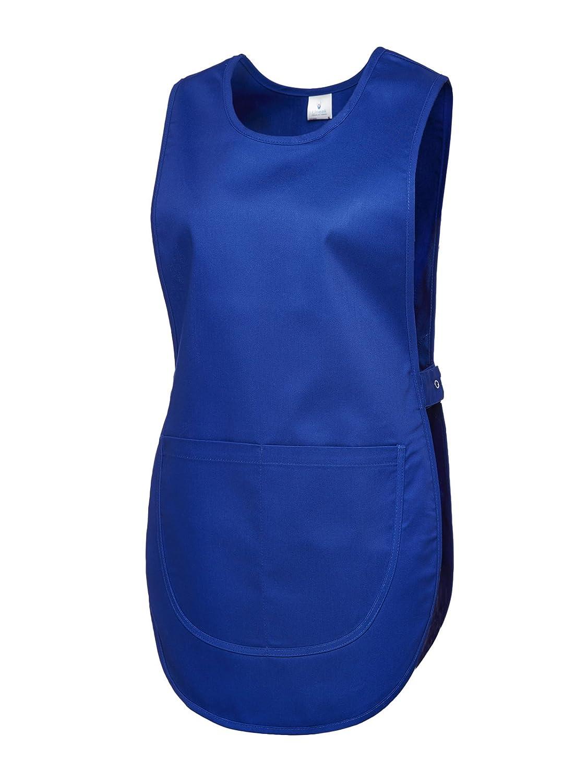 Ladies Premium Tabard Work Wear Overall Apron, Navy, Medium UC920