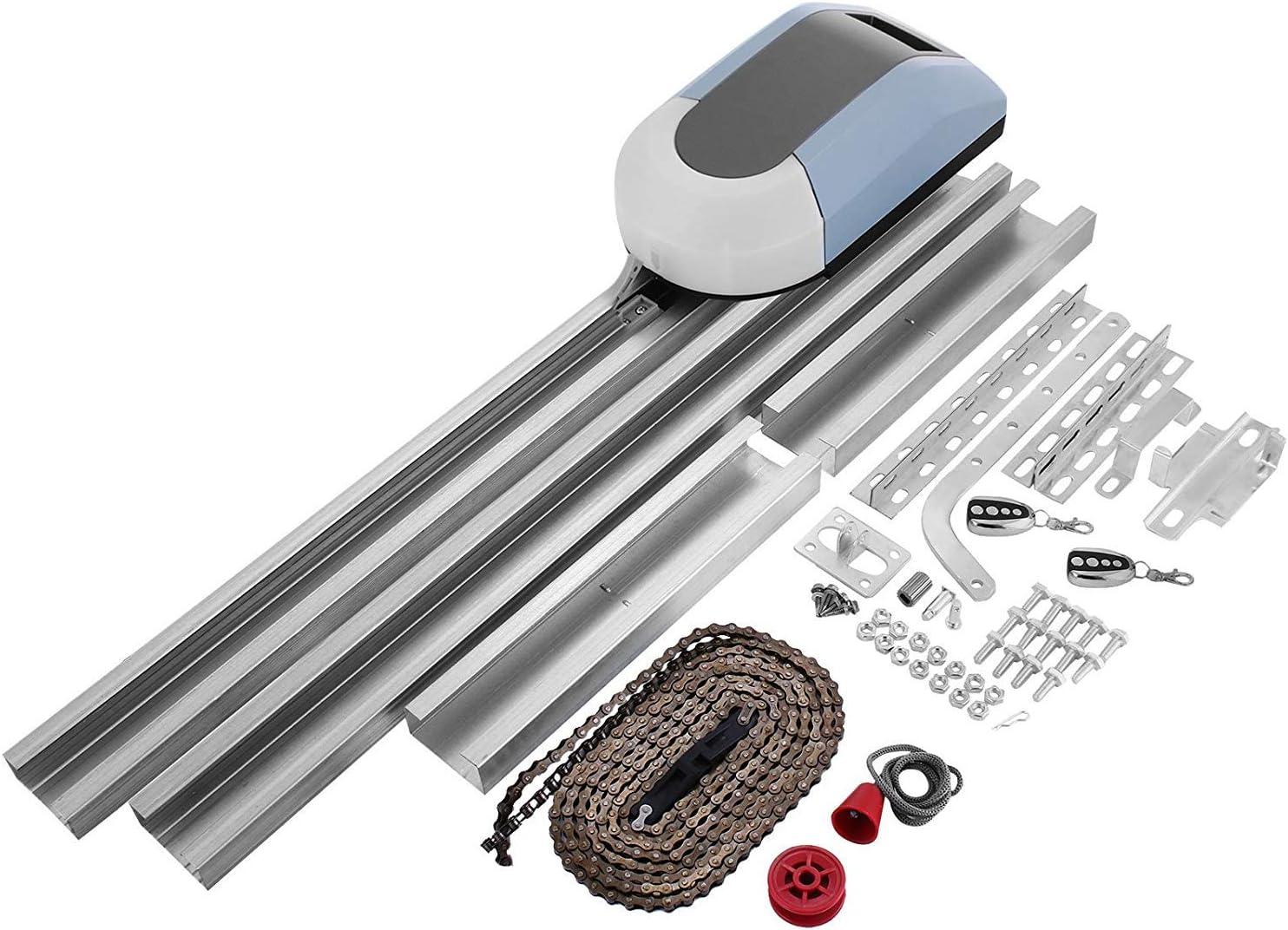Mophorn Operador de Abridor de Puertas de Garaje 1000N Kit Completo 150W Control Remoto Eléctrico Automático Puertas Abrelatas Kit de Puertas Corredizas