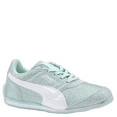 Puma Kids Girls Steeple Glitz AOG Little KidBig Kid ClearwaterWhite