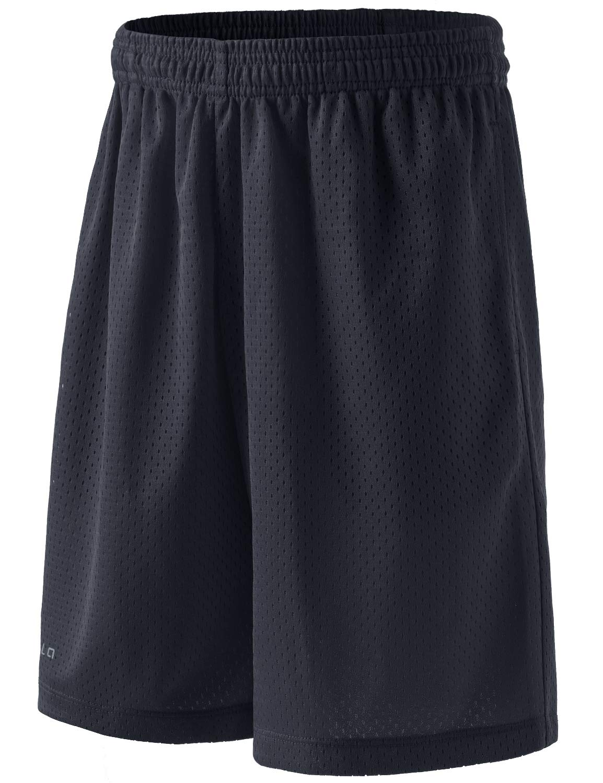 TSLA Boy's Active Shorts Sports Performance Youth HyperDri II w Pockets, Quick Dri Mesh(kbh02) - Dark Grey, Youth X-Small by TSLA