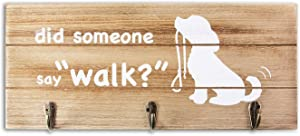 VILIGHT Vilght Dog Leash Holder Rustic Home Sign Wall Decor with Hooks - Funny Pet Lover Gifts for Women and Men - 12.6x5.5 Inches