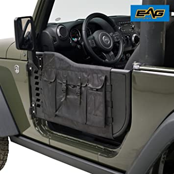EAG Pocket Tubular Tube Doors with Cargo Cover Storage Bags With Sideview Mirror for 07- & Amazon.com: EAG Pocket Tubular Tube Doors with Cargo Cover Storage ...
