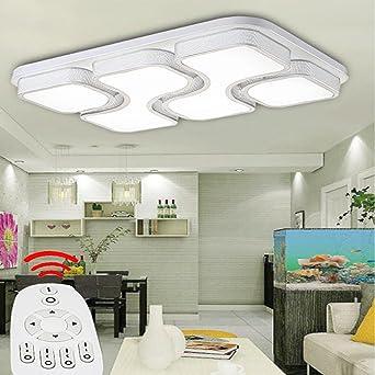 ETiME 64W Design LED Deckenlampe dimmbar mit Fernbedienung Led ...