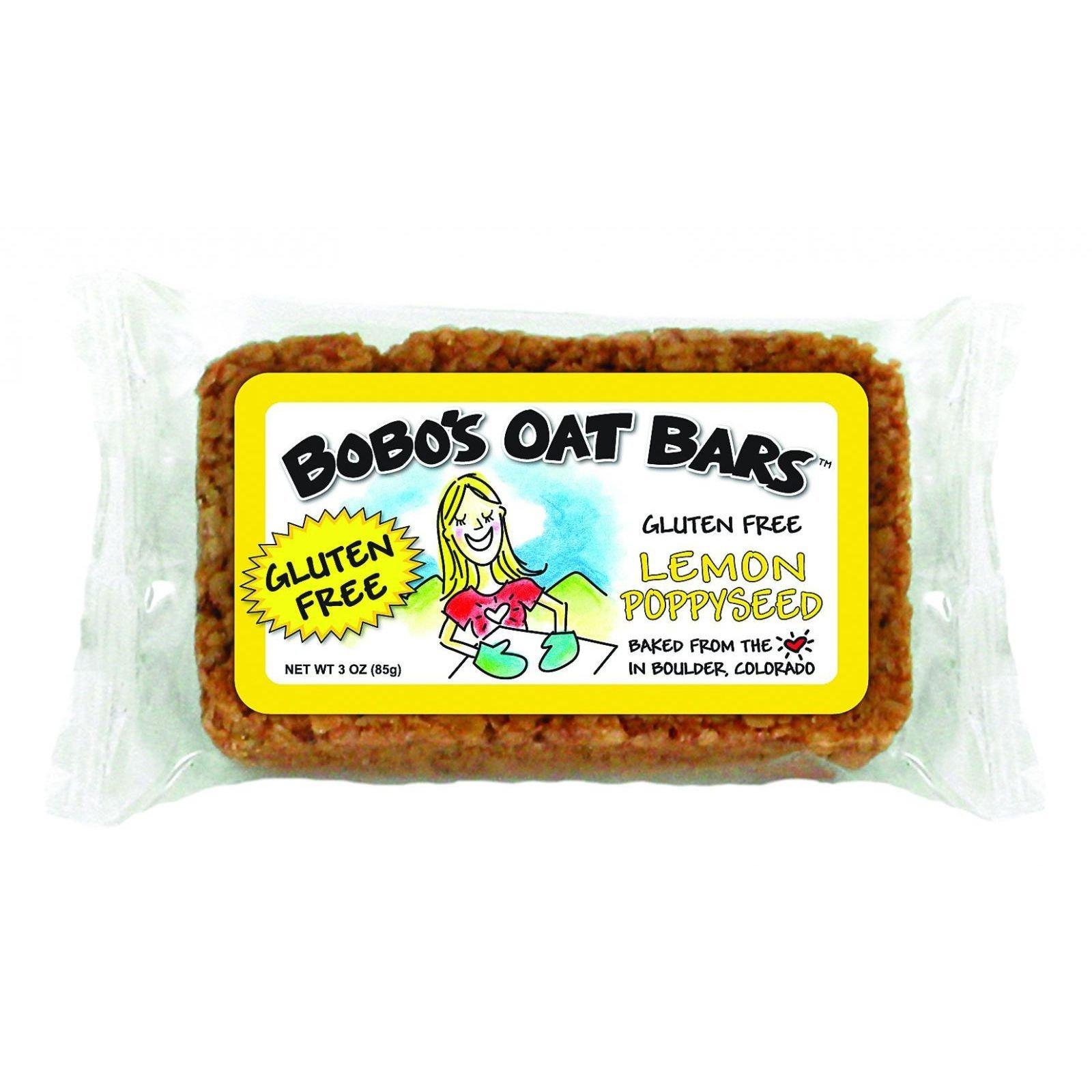 Bobo's Oat Bars All Natural Gluten Free, Lemon Poppyseed, 12 Count