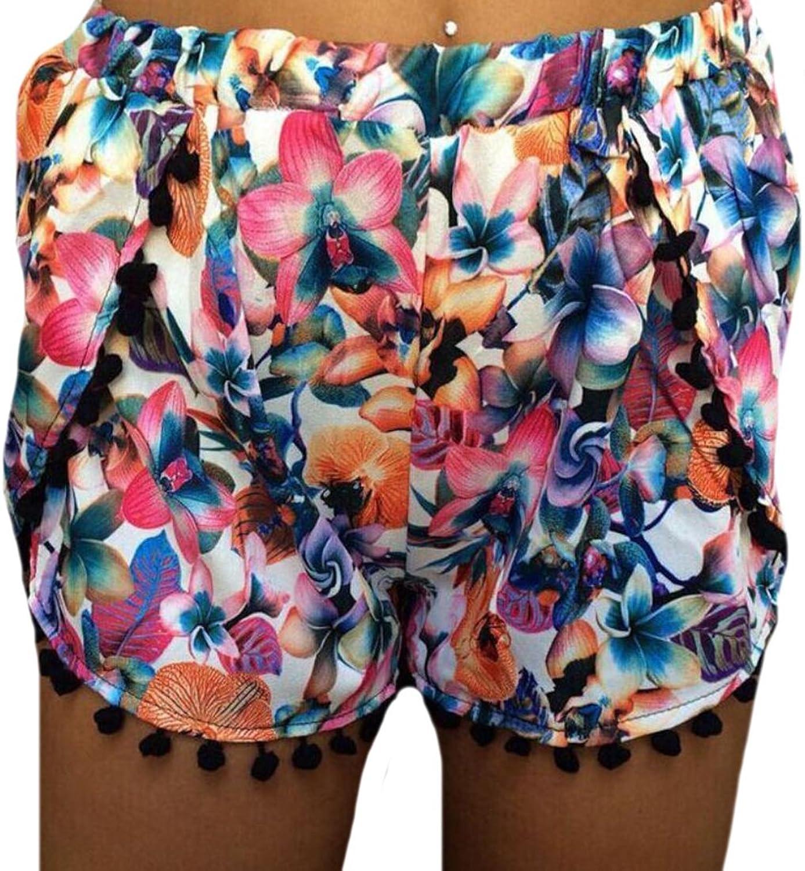 Vska Women Fashion Summer Sexy Casual Bohemia Beach Shorts