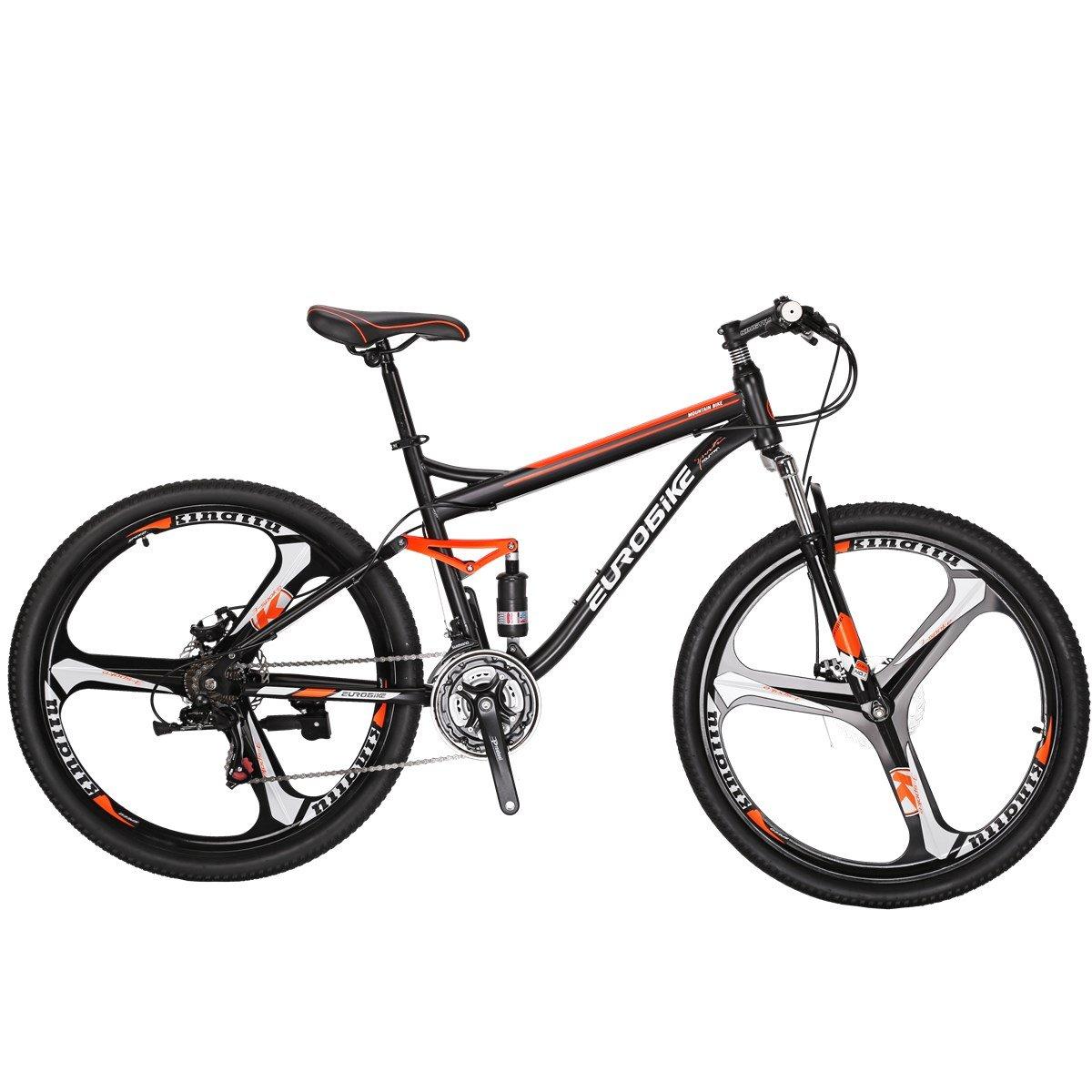 EUROBIKE Moutain Bike S7 Bicycle 21 Speed MTB 27.5 Inches Wheels Dual Suspension Bike