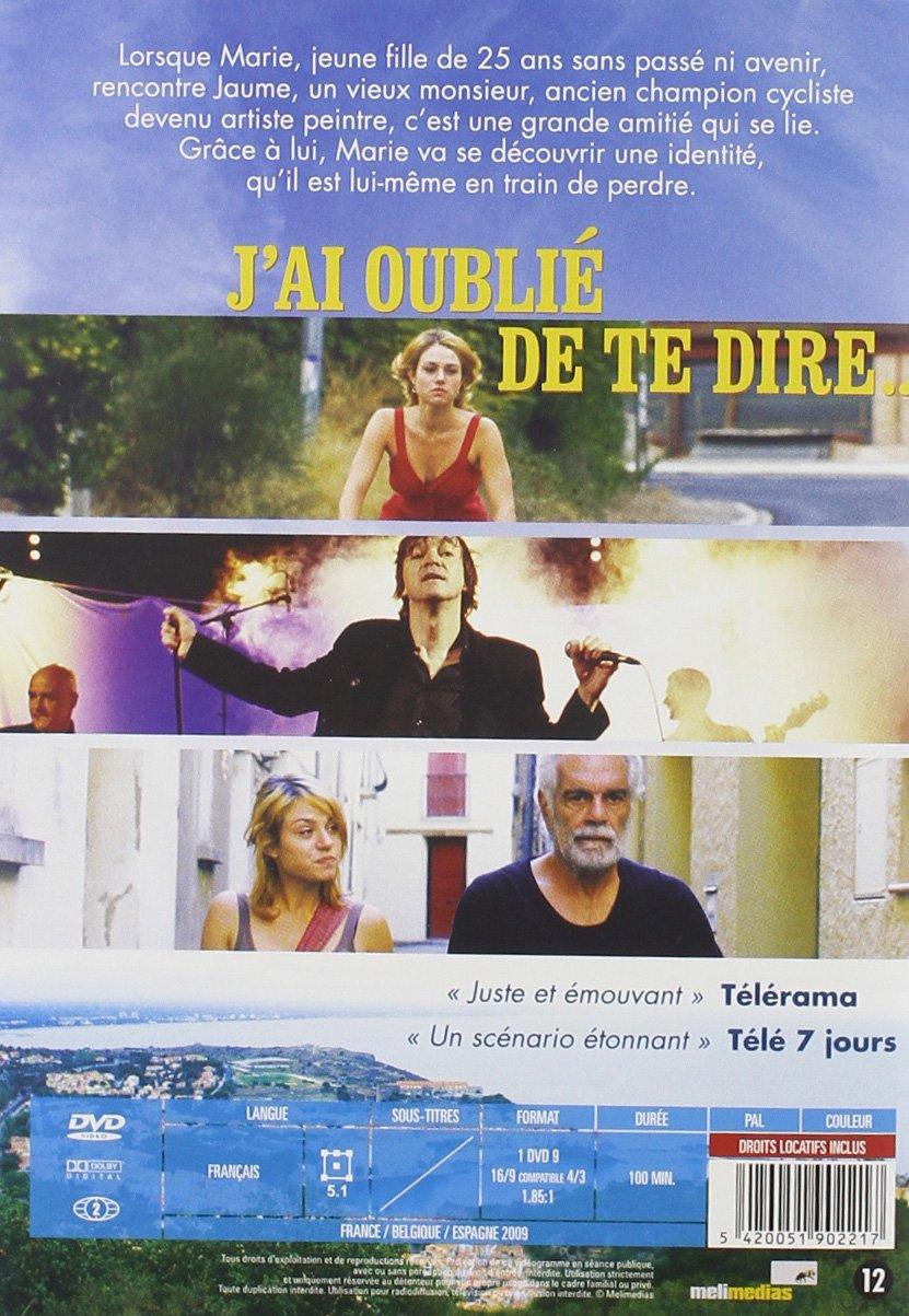 J'ai oublié de te dire [Import belge]: Amazon.fr: Omar Sharif, Emilie  Dequenne, Laurent Vinas-Raymond: DVD & Blu-ray