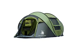 HuiLingYang Outdoor Instant 4-Person Pop Up Dome Tent - Easy Automatic Setup -  sc 1 st  Amazon.com & Amazon.com : HuiLingYang Outdoor Instant 4-Person Pop Up Dome Tent ...