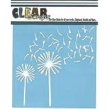 """CLEARSNAP Clear Scraps Dandelion Wind Stencils, 6 by 6"""""""