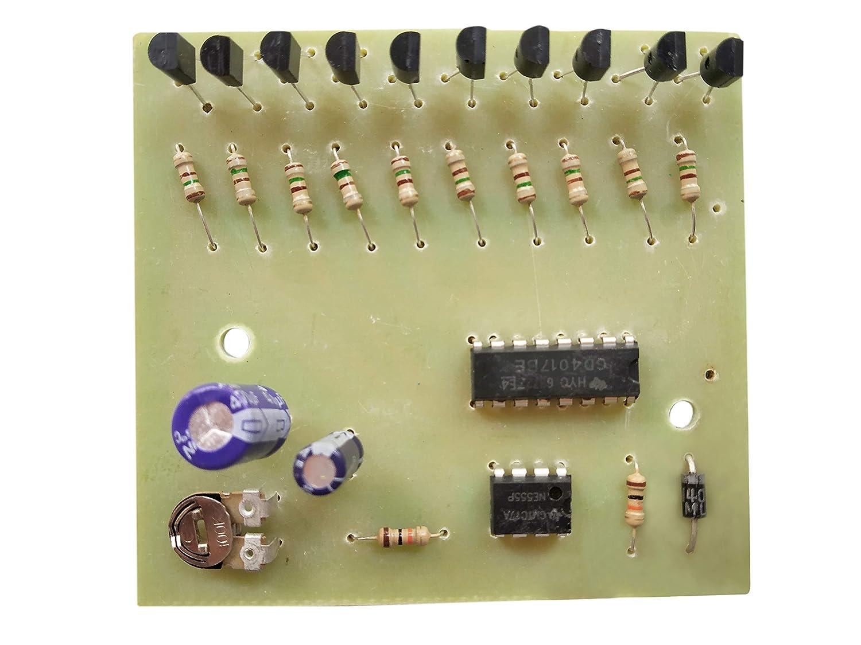 Esp 10 Led Outputs Running Light Decad Counter Circuit Tda2030 Hi Fi Audio Amplifier Electronic Project Electronics