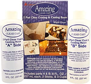Alumilite Amazing Clear Cast 10590, 8 Oz of Clear Coating and 8 Oz of Casting Resin