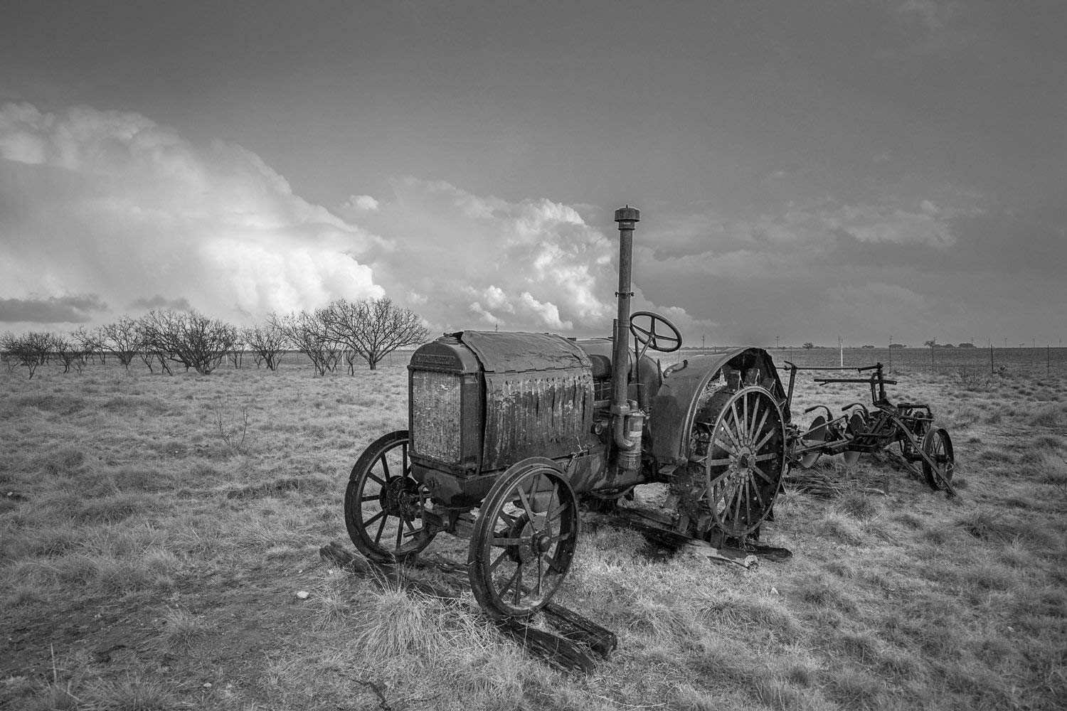 Tractor Photography Wall Art Print - Picture of Rustic McCormick-Deering Tractor in Southern Texas Country Decor 5x7 to 30x45