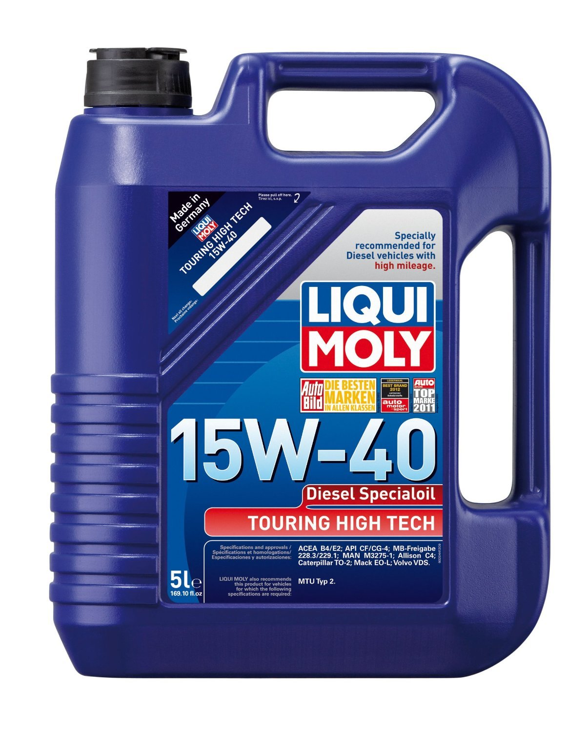 Liqui Moly (2044-4PK) Touring High Tech Diesel 15W-40 Motor Oil - 5 Liter, (Pack of 4) by Liqui Moly