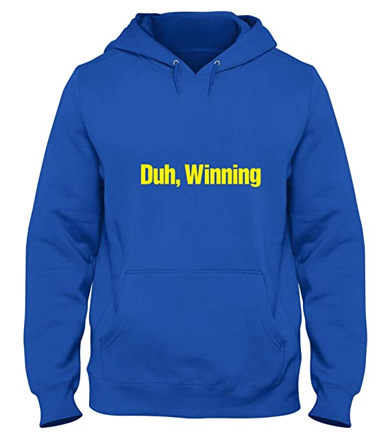 Sudadera con Capucha Azul Royal FUN0978 Charlie Sheen DUH Winning T Shirt: Amazon.es: Ropa y accesorios