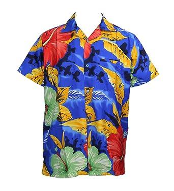 080aa8805 MENS HAWAIIAN SHIRT STAG BEACH HAWAII ALOHA PARTY SUMMER HOLIDAY FANCY BIG  FLOWER (XS, BLUE): Amazon.co.uk: Clothing