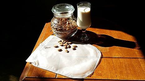 ... Bolsa filtro, Perfect Filtration 200 Micron, sin BPA, Robusto / Ecológico / Reutilizable, Rápida limpieza y secado, prepara leches orgánicas almendra ...