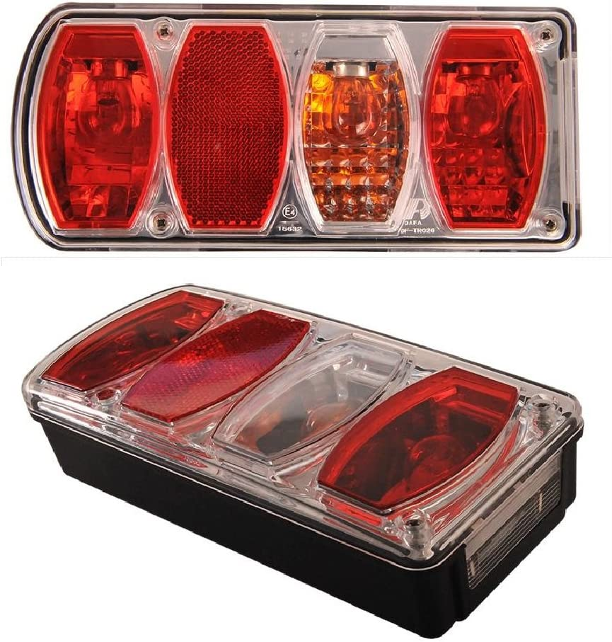 6 Funktions Anhänger Bremsleuchte Rückfahrlicht Blinker Rücklicht Nebellicht Reflektor Kennzeichenbeleuchtung 12v Licks Rechts Set Links Auto