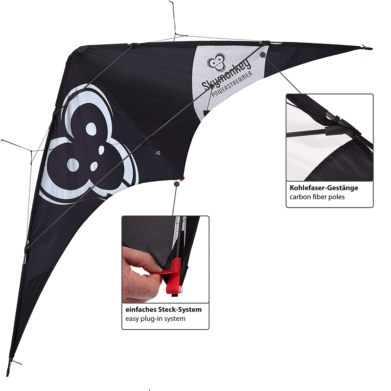 Deportiva Skymonkey Cometa articulada Powerstreamer XXL avanzados 212cm Negro