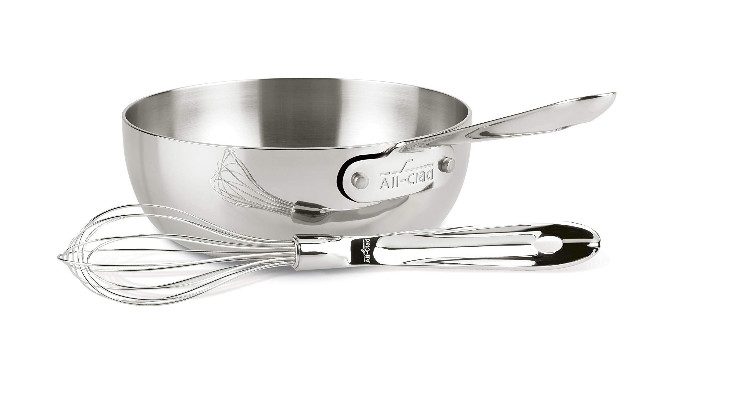 All-Clad 4212 Stainless Steel Saucier Sauce Pan Cookware, 2-Quart, Silver by All-Clad