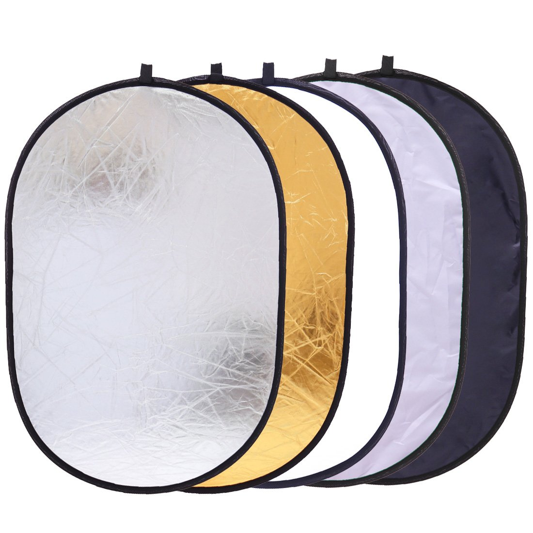 5-in-1 Reflector Photography 35'' x 47'' Photo Studio Portable Collapsible Oval Large Light Reflectors/Diffuser Accessories Kit with Carrying Case for Outdoor Camera Vedio Lighting by Konseen