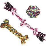 MEWTOGO Pet Chew Durable Jouets-Dents Aides coton Cordes pour les chiens (Pack de 3 pour m-l chien) ...