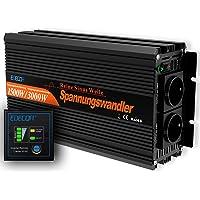 EDECOA Omvormer Zuivere Sinus 1500W 3000W Omvormer voor Buiten Auto Omvormer 12 V 230 V Spanningsomvormer Inverter Pure…