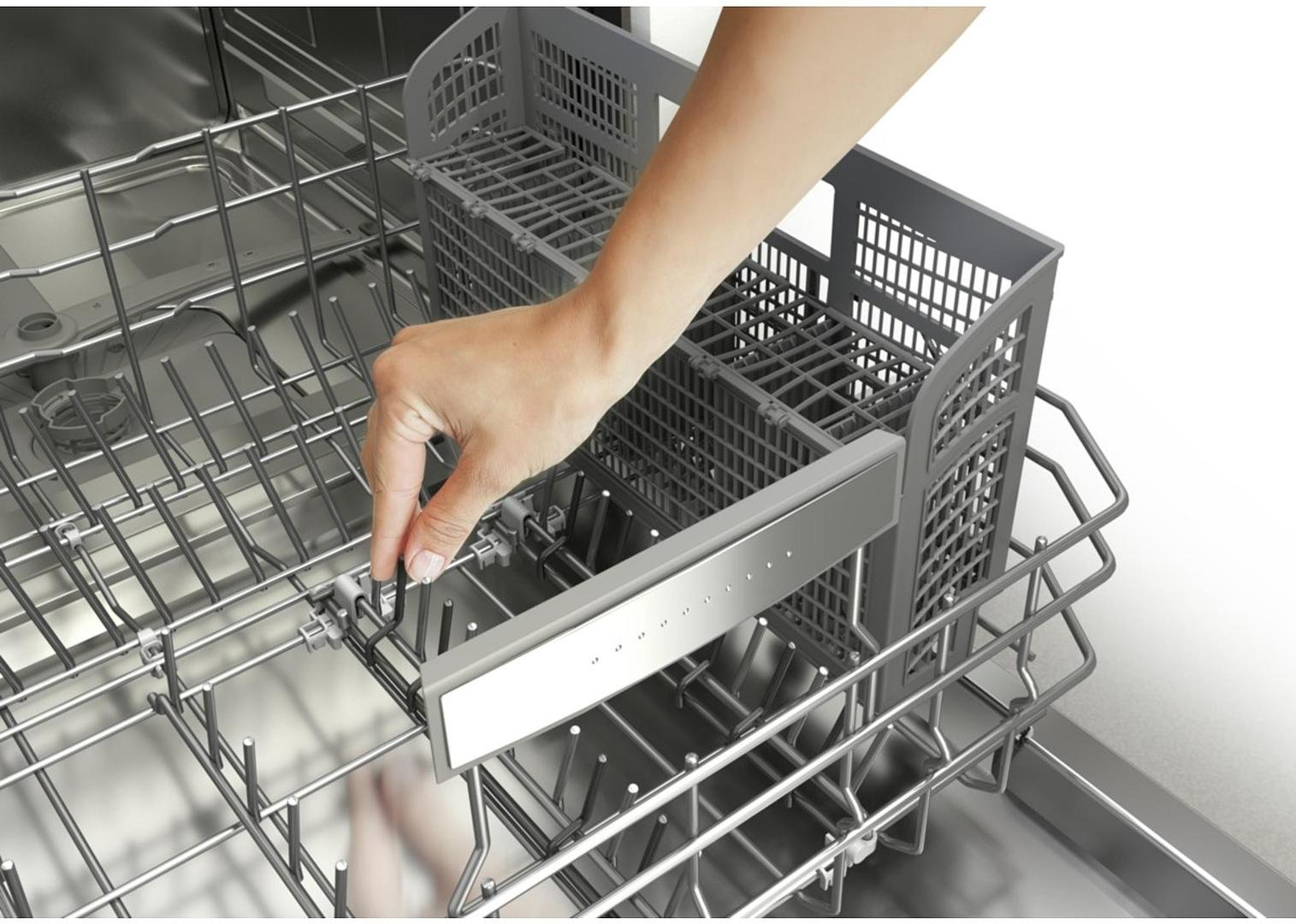 Bosch SHPM78W54N 800 Series 24 Inch Built In Fully Integrated Dishwasher with 5 Wash Cycles in Black Stainless Steel